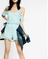 Express lace cold shoulder romper