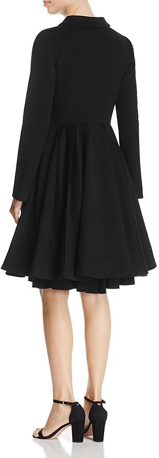 Armani Collezioni Virgin Wool Fit-and-Flare Coat