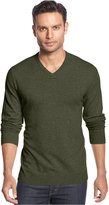 Alfani Big and Tall Solid V-Neck Sweater