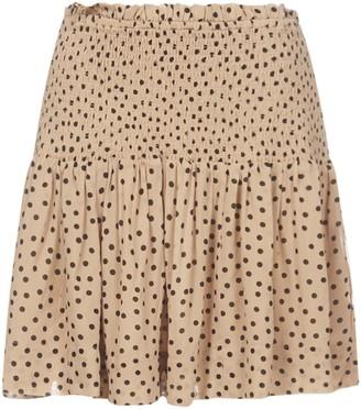 Ganni Georgette Smock Polka-Dot Skirt