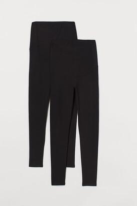 H&M MAMA 2-pack Jersey Leggings