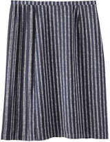 Joe Fresh Women's Pleated Print Skirt, Deep Blue (Size 12)
