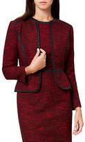 Hobbs Florrie Tailored Jacket, Red/Black