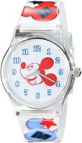 Disney Kids' W001963 Mickey Mouse Analog Multi-Color Watch