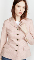 ALEXACHUNG Single Breasted Jacket Houndstooth