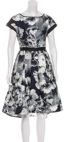 Marchesa Voyage Silk Midi Dress