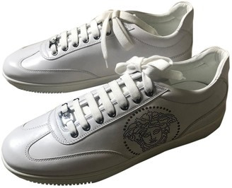 Versace White Leather Trainers