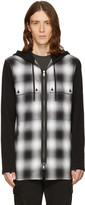 Helmut Lang Black Check Combo Hoodie