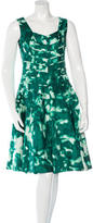 Oscar de la Renta Printed Midi Dress