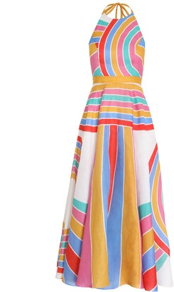 Zimmermann Fiesta Rainbow Halter Dress