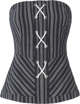 Exclusive for Intermix Addison Striped Bustier Top