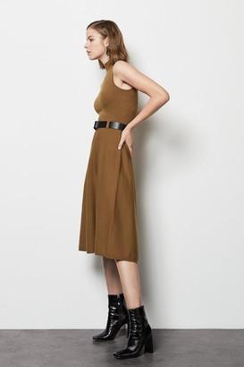 Karen Millen Belted Midi Knit Dress