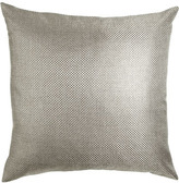 "Dransfield and Ross Fino Lino Linen & Lace Soho Pillow, 16"" x 23"""