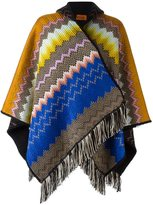 Missoni reversible hooded poncho