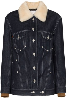 Chloé Shearling Collar Denim Jacket