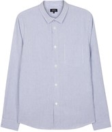 A.p.c. Etienne Blue Striped Cotton Blend Shirt
