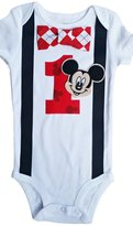 Perfect Pairz Baby Boys 1st Birthday Outfit Mickey Mouse Bodysuit