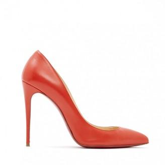 Christian Louboutin So Kate Orange Leather Heels