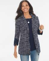 Chico's Tweed Lace-Cuff Detail Jacket