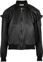 Kenzo Appliquéd satin-jacquard bomber jacket