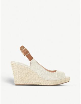 Dune Kicks espadrille wedge sandals