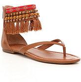 Jessica Simpson Raquelle Tasseled Pom Pom Flat Sandals