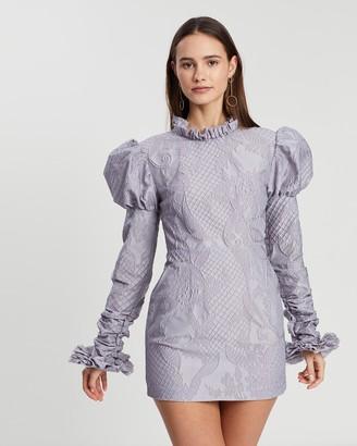 Asilio Floral Gathered Mini Dress