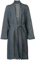 Rosetta Getty belted robe coat - women - Cotton/Linen/Flax/Nylon/Cupro - 4