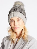 Marks and Spencer Textured Sparkle Pom Hat