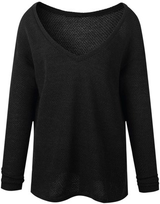 Goodnight Macaroon 'Susann' Deep V-neck Loose Knitted Sweater (8 Colors)