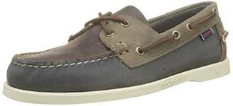 Sebago Men's Portland Spinnaker Waxed Boat Shoes, Multicolour (Brown-Navy-Grey N17)