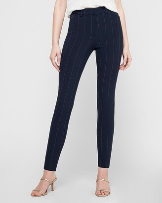 Express High Waisted Pinstripe Skinny Pant