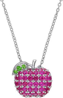 Laura Ashley Sterling Silver Clustered Apple Pendant Necklace