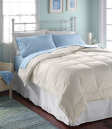L.L. Bean Box-Stitch White Down Comforter, Warmer