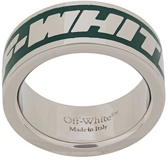 Off-White Engraved-Logo Band Ring