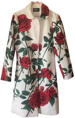 Dolce & Gabbana Red Cotton Coat for Women