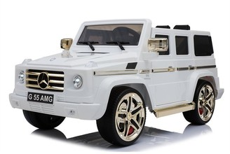 Kool Karz Mercedes-Benz G55 AMG Electric Ride On Toy Car (Golden&White Limited Edition)