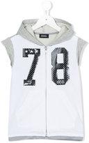 Diesel sleeveless hoodie - kids - Cotton/Polyester/Spandex/Elastane - 6 yrs
