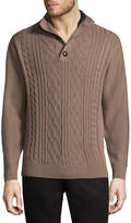Haggar Mock Neck Long Sleeve Pullover Sweater