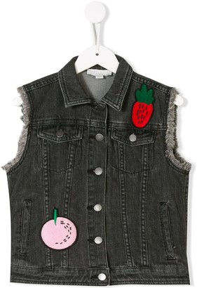 Stella McCartney Fruit Patch Denim Jacket