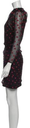 CARMEN MARCH Silk Mini Dress Black