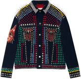 Gucci Studded leather corduroy jacket