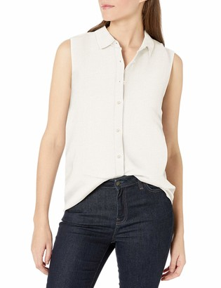 Amazon Essentials Women's Sleeveless Linen Shirt