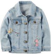 Carter's Toddler Girl Embroidered Denim Jacket