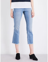 French Connection Ash kick-flare cropped high-rise jeans