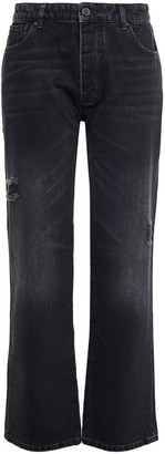 Victoria Victoria Beckham Distressed High-rise Straight-leg Jeans