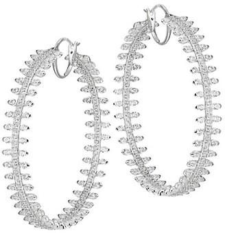Adriana Orsini Tivoli Silvertone Spike Hoop Earrings