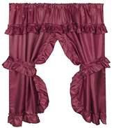 "Carnation Home Fashions Lauren"" Window Curtain with Ruffled Valance, Burgundy"