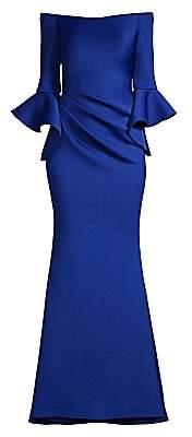 Jovani Women's Off-Shoulder Bell Sleeve Gown