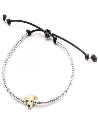 Golden Retriever Head Bracelet in Sterling Silver and Enamel